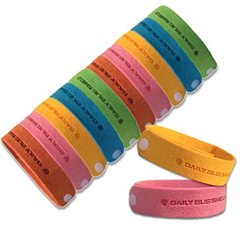 Mückenschutz Armband -12 Packungen alle natürlichen Anti-Moskito-Armband Bug Repellent Bands Reisen abweisende Armbänder No Deet nicht giftig für Kinder Erwachsene und Haustiere