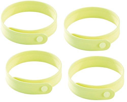 PEARL Duft-Armband Größenverstellbares Anti-Mücken-Armband in Gelb 4er-Set Armband mit Anti-Mücken-Wirkstoff