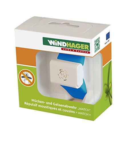 Windhager Mückenabwehr Watch Batterie Fernhaltemittel Mücken Armband Anti Mückenarmband blau 37116