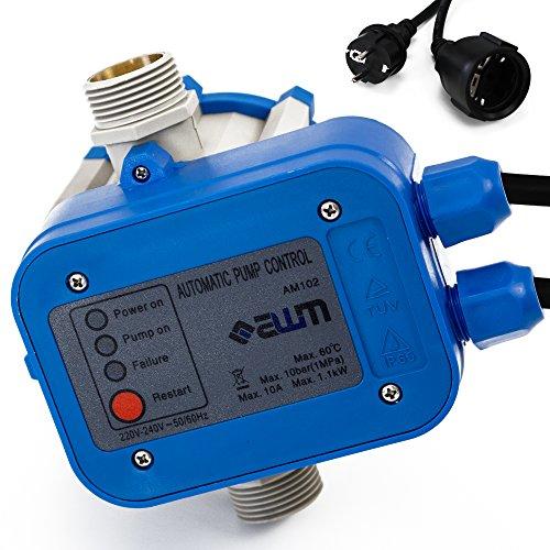 AWM Pumpen Druckschalter automatische Pumpensteuerung verkabelt Trockenlaufschutz Rückschlagventil maximale 10 bar AM-102