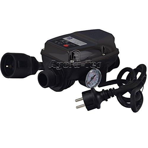 Agora-Tec Pumpen Druckschalter AT-DWv-5 mit Kabel zur Pumpensteuerung für Kreisel- Tauch- Tiefbrunnenpumpen und Betriebsdruck von 10 bar AT 003 001 004
