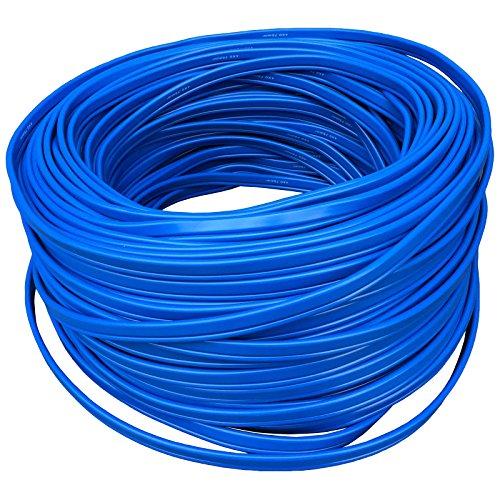 25 Meter Strom Flachkabel blau 230V 4 x 05 mm² Stromkabel Tiefbrunnenpumpe Wasserpumpen Ersatzteil