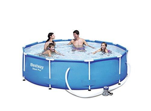 Bestway Steel Pro Frame Pool Set rund mit Kartuschenfilterpumpe 305x76 cm blau