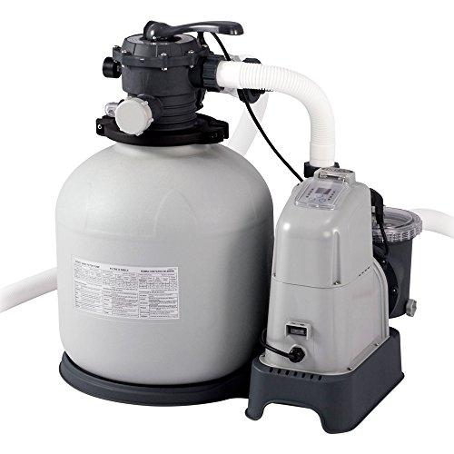 Intex 28680 Sandfilteranlage Krystal Clear 10 m³ Salzwassersystem grau 8000 lh  550 W  230 V