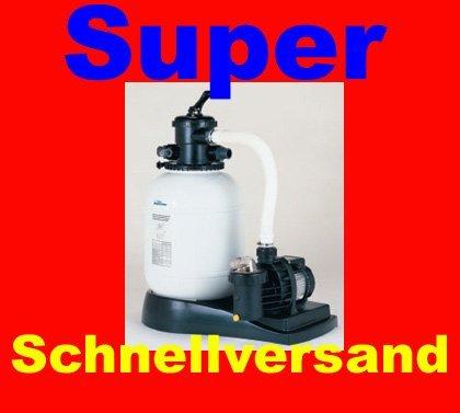 Sandy 8 super Sandfilteranlage Sandfilter 8m²h mit Pumpe