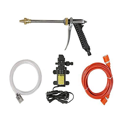Beikal Elektrische Wasserpumpe Auto Waschanlage 12V 80W 9bar 6Lmin Hochdruck zum Waschen Bewässerung Dekontamination