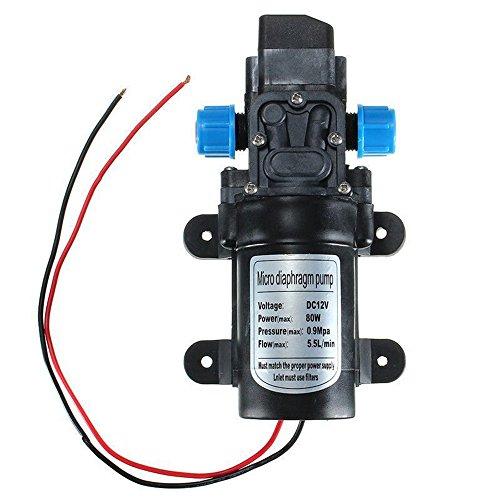 Binglinghua Hochdruck-Membran-Wasserpumpe selbstansaugende Pumpe DC 12 V 80 W 0142 Motor 55 lmin