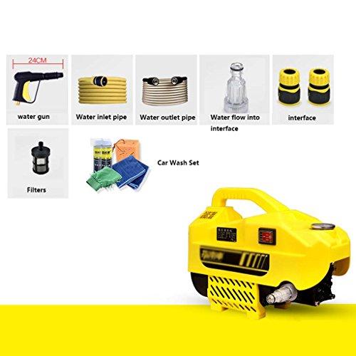HAO SHOP Hochdruck Autowaschmaschine-220V Haushalt 1500W Autowaschanlage Portable Reinigungsmaschine Auto Wasserpumpe Wasserpistole Autowaschanlage Bewässerung und Reinigung Haustier Rasen Etc