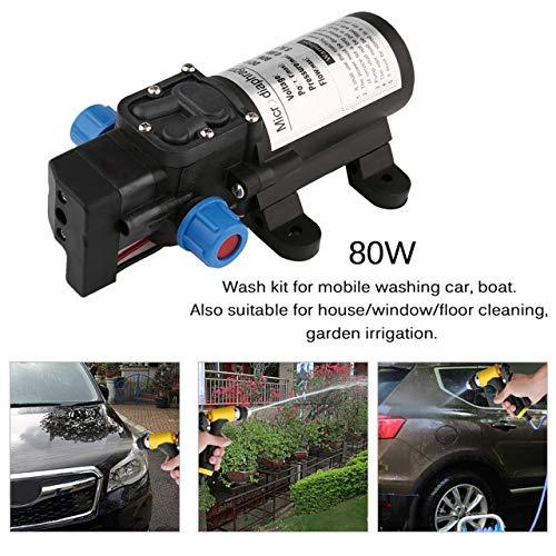 Jasnyfall Tragbare 12 V 80 Watt Hochdruck Elektrische Wasserpumpe Spray Bewässerung Gun Wash Kit