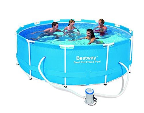 Bestway 56260 Frame Pool Stahlrahmenbecken Set 366 x 100 cm mit Filterpumpe NL
