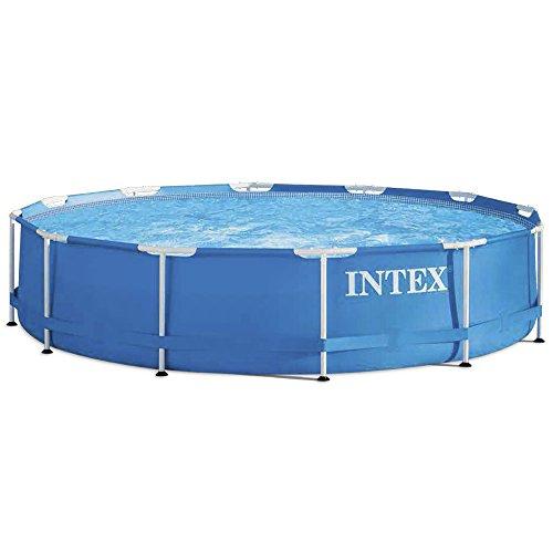 Intex Aufstellpool Frame Pool Set Rondo Blau Ø 366 x 76 cm