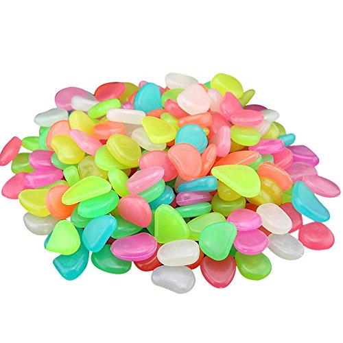 Colorful Leuchtsteine 50 Stkünstliche Kieselsteinleuchtende KieselAquarium Floureszierende Pebbles SteinGarten Gehweg I