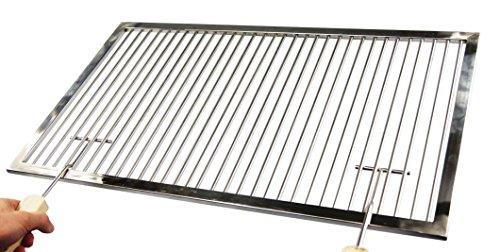 Edelstahl Grillrost Nach Maß  2 Griffe19 mm Abstand Stab zu StabUmfang 1-300 cmMaßanfertigung aus Deutschland Umfang 1-150 cm