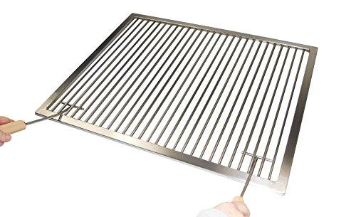 Edelstahl Grillrost Nach Maß  2 GriffeNur 9 mm Abstand Stab zu StabUmfang 1-300 cmMaßanfertigung aus Deutschland Umfang 201-220 cm