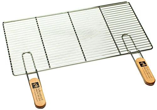PG Metalltechnik Edelstahl Rost Grillrost - rechteckig und rund - Grill Rost Grössenauswahl 58 x 30 cm mit Griffen