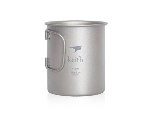 Keith Titan Becher Outdoor Mug Camping Tasse Mit Deckel Picknick Geschirr450mlTi3204