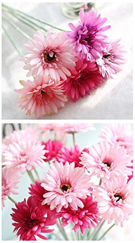 DANMEI ein Strauß von Sonnenblume Simulation Blume Gerbera Exporte Home Dekorative Künstliche Blumen Simulation Pflanzen Plastik Rose 21inches