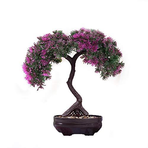 YKANG Wohnzimmer Dekorative Blumen Künstliche Pflanze Blume Baum Grün TopfLotus