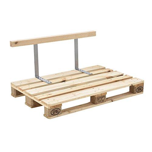 encasa Rückenlehne für Euro-Paletten-Sofa Massiv Holzoptik DIY Möbel