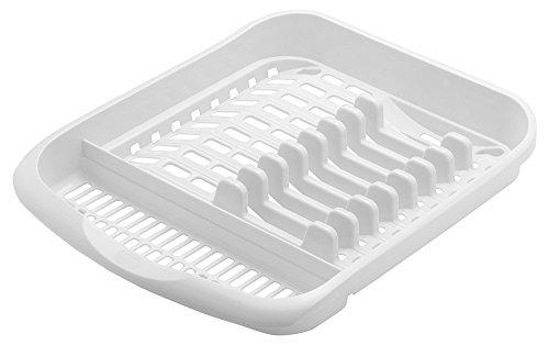 Addis Geschirrabtropfständer aus Kunststoff Geschirr-Abtropfgestell Abtropfkorb Farbe Weiß