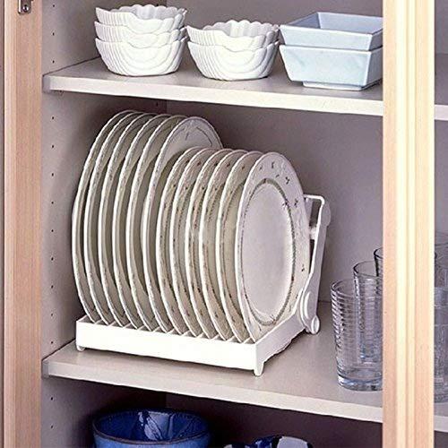 Faltbar Teller Trocknen Rack Organizer Abtropfgestell Kunststoff Storage Halterung weiß Küche Organizer Hot ^