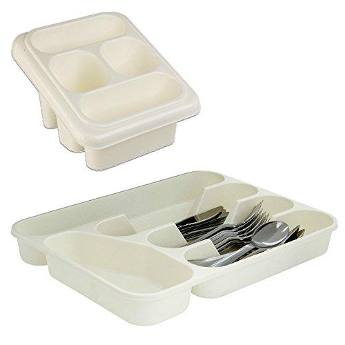 Weiß Kunststoff Abtropfgestell  Besteckkasten Organizer Aufbewahrung für Küchenutensilien Ordentlich