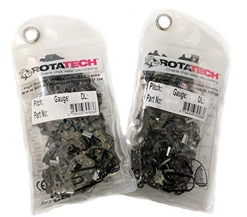 Rotatech 2er-Packung 38cm Kettensäge Säge Kette geeignet für HUSQVARNA 136 137 141 142