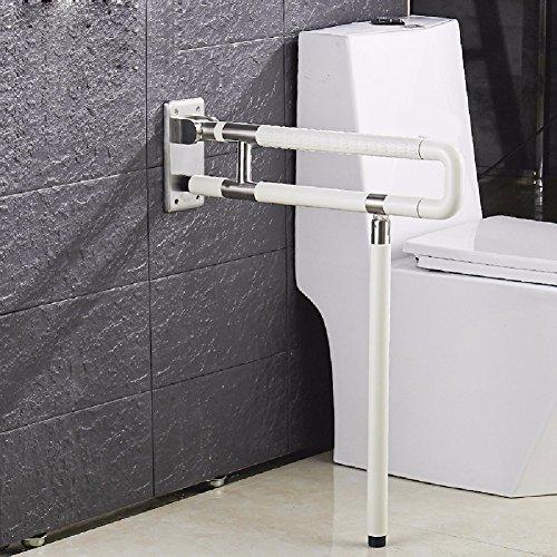 HQLCX Badezimmer-Geländer Wc - Sitz Armlehne Alte Menschen Behinderte Barriere Gürtel Bein Geländer Edelstahl - Bad Toilette Alte Toilette Anti-Skid UmgehenWeiße