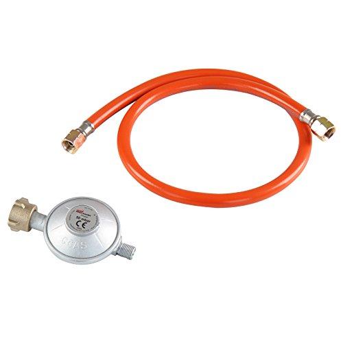 Broil-Master Druckregler für Gasgrill  Druck ca 30-50 mbar Länge 80 cm  Regulator und Schlauch für BBQ Gasgrill  Kompatibel mit Gasflaschen für DE