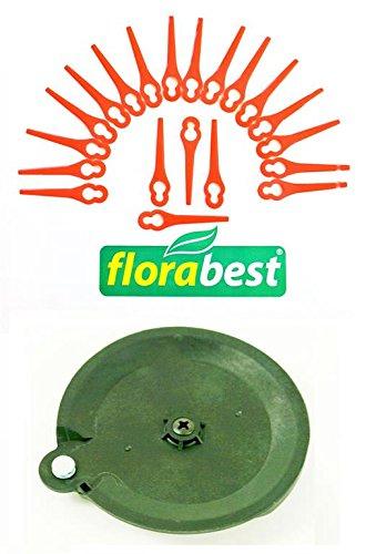 20 Messer 1 Schneidscheibe für Ihren Florabest LIDL Akku Rasentrimmer FAT 18 B2 IAN 71315