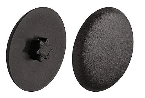 Gedotec Verschluss-Stopfen Kunststoff Schrauben-Abdeckungen zum Eindrücken Schrauben-Kappen schwarz  H1121  Ø 12 mm  IS25  20 Stück