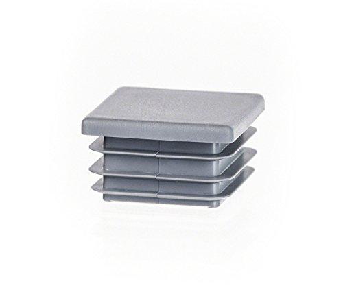 10 Stck Quadratstopfen 100x100 mm Grau Kunststoff Endkappen Verschlusskappen