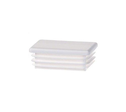 10 Stck Rechteckstopfen 60x40 mm Weiß Kunststoff Endkappen Verschlusskappen