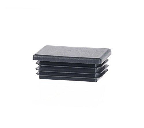 5 Stck Rechteckstopfen 80x50 mm Anthrazit Kunststoff Endkappen Verschlusskappen
