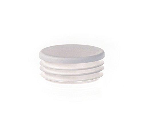 5 Stck Rundstopfen 40 Weiß Kunststoff Endkappen Verschlusskappen
