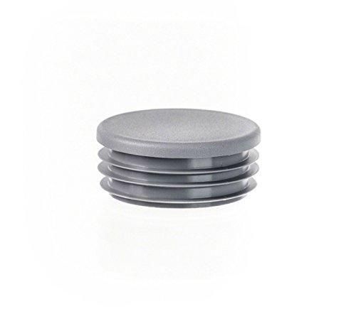 5 Stck Rundstopfen 70 mm Grau Kunststoff Endkappen Verschlusskappen
