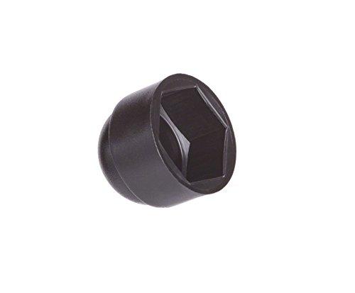 50 Stck Schutzkappen für Schrauben M14 für Schlüssel 22 Schwarz Schraubenkappen Stopfen Rohrkappen
