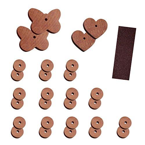 Lantelme 29 tlg Mottenstop Mottenschutz Set aus naturbelassenem Zedernholz ohne Chemie Motten Bekämpfung Umweltgerecht Holz Schrankduftscheiben mit Sandpapier