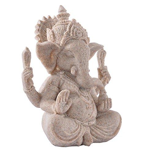 Baoblaze Ganesha Buddha Skulptur Figur Glück Gott Glücksbringer Deko für Haus Auto Büro