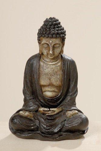 Buddha-Figur Buddha-Skulptur aus Kunstharz sitzend ca 20 cm x 15 cm x 28 cm