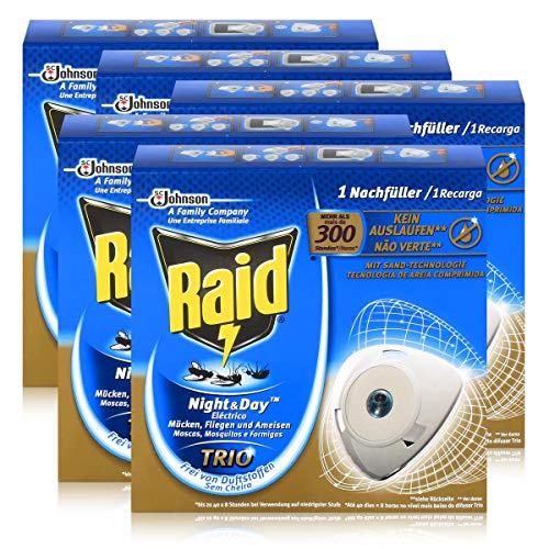 5x Raid Night Day Trio Insekten Stecker Nachfüller gegen Mücken Fliegen Ameisen
