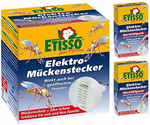Delicia 0726-770-1 Elektro-Mückenstecker inkl 20 Plättchen  40 Nachfüllplättchen