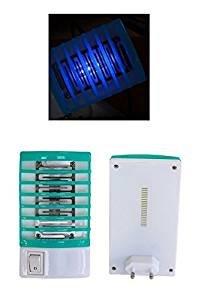 HUKITECH Insektenlampe Insektenstecker Mückenstecker Insektenvernichter mit Nachtlicht Funktion - Ökologischer Insektenschutz gegen Mücken und andere Fluginsekten