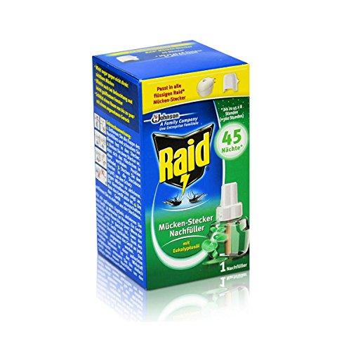 Raid Mücken-Stecker Nachfüller für ca 45 Nächte Mückenfrei - mit Eukalyptusöl