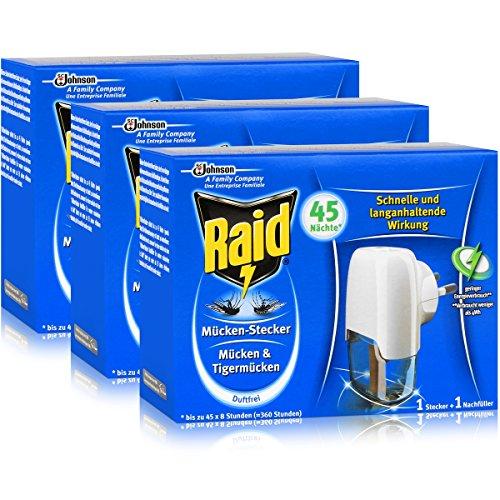 Raid Mücken Stecker für ca 45 Nächte Mücken 3er pack