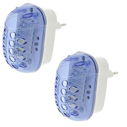 TronicXL 2 Stück Elektrischer Insektenvernichter Eco Steckdose Insekten Insektenstecker Moskito Stechmücken Lichtfalle