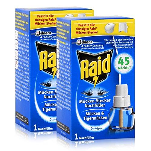 2x Raid Mücken Stecker Nachfüller für ca 45 Nächte Mückenfrei
