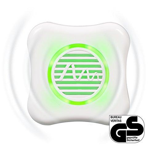 Gardigo Stechmücken-Feind mit LED Nachtlichtfunktion  Elektrischer Mückenschutz  Vertreibt Mücken mit Ultraschall  Mückenabwehr-Stecker ohne Chemie  Deutscher Hersteller