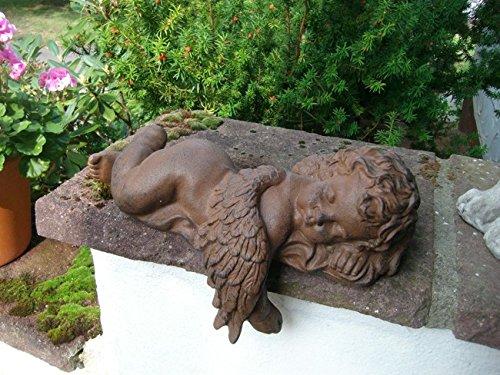 Regalengel Dekoengel Statue Skulptur Rost -Gusseisen-Optik rechts