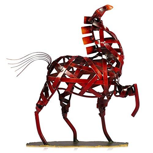 Tooarts Skulptur  Figur  Statue aus Metall Kunstwerk Dekoration für Zuhause Wohnzimmer Büro pferd